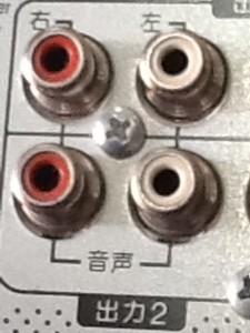 HDDレコーダーの裏側